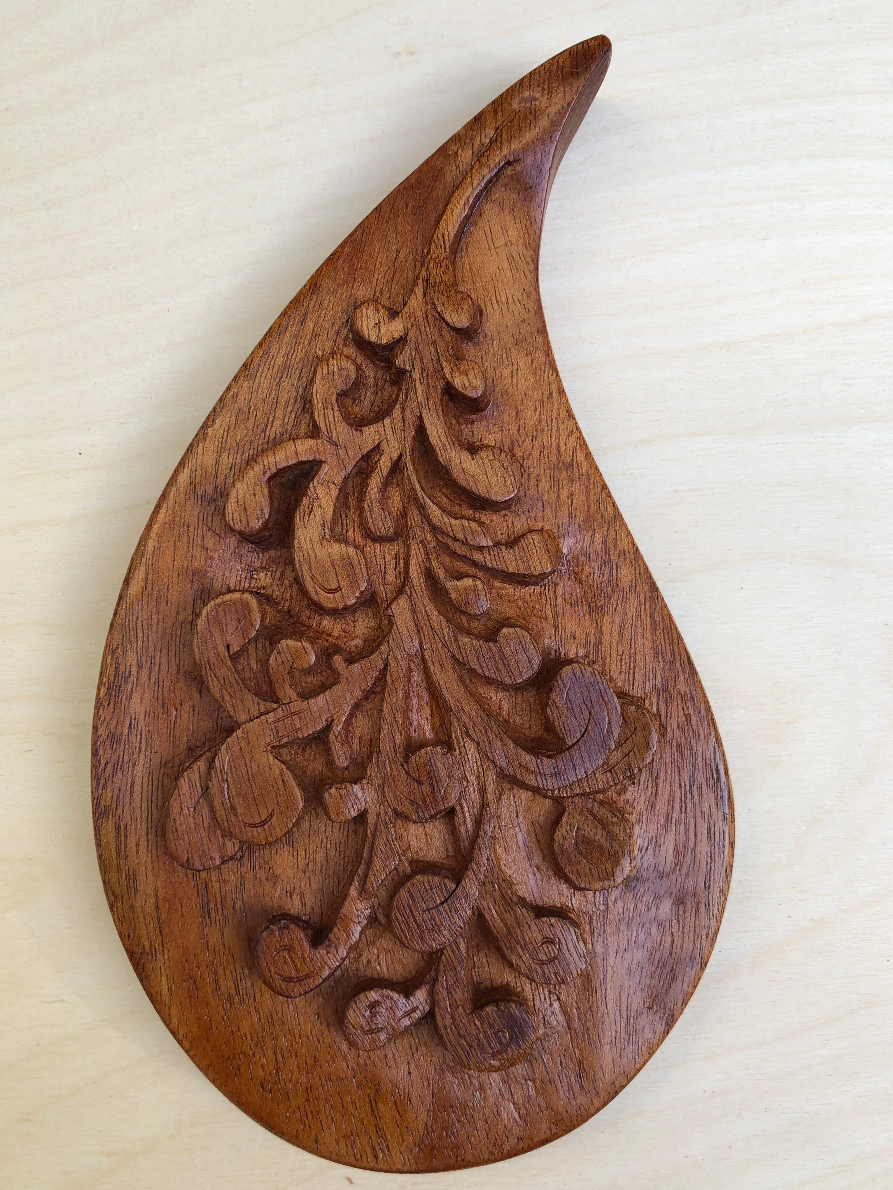 Mahogany Paisley Carving